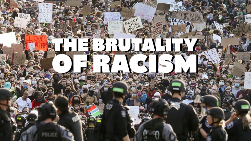 protest against racist police